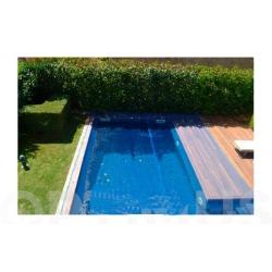 Cubierta malla para piscina fun and go leaf pool cover 7x7m