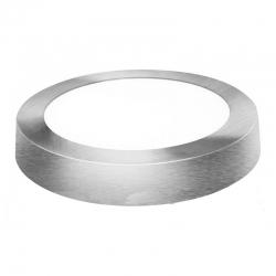 Downlight led superficie redondo matel plata 23cm 18w 1800lm luz fria