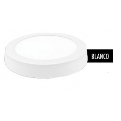 Downlight led superficie redondo matel blanco 31cm 24w 2400lm fria