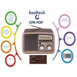 Radio bluetooth usb portatil pop