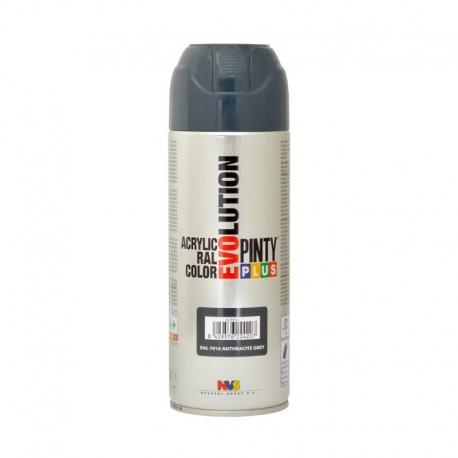 Pintura spray acrilica pintyplus gris antracita brillo 520 cc