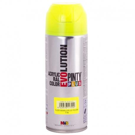 Pintura spray acrilica pintyplus amarillo fluorescente 520 cc