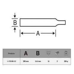 Lima triangular bahco 1-170-08-2-2 200 mm311872