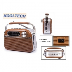 Radio blues kooltech portatil am fm sw314236