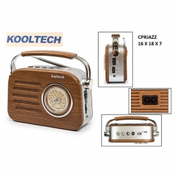 Radio jazz kooltech portatil am fm sw314238