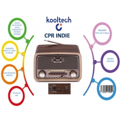 Radio bluetooth usb portatil indie