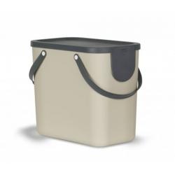 Cubo de reciclaje apilable albula 25 l beige