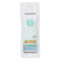 Bolsas de basura brabantia compostables 6 l 10 bolsas