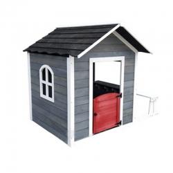 Caseta madera infantil outdoor toys chloe grey 116 x 138 x 132 cm