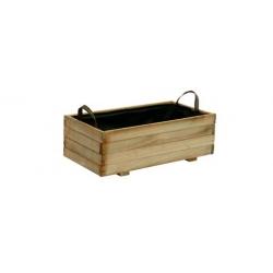 Jardinera madera rectangular 31l baroque