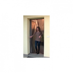 Mosquitera para puerta magnetica heyac 120x230 cm negro