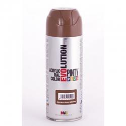 Pintura spray acrilica pintyplus marron palido brillo 520 cc