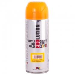 Pintura spray acrilica pintyplus naranja fluorescente 520 cc