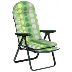 Silla relax con reposapies acero verde 797vor