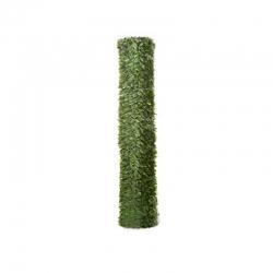 Seto artificial central de enrejados bicolor maxi hoja ancha 1 x 3 m