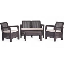 Conjunto jardin keter tarifa lounge marron