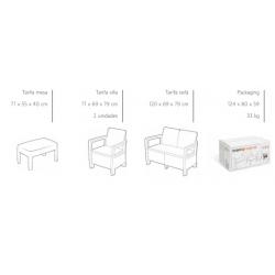 Conjunto jardin keter tarifa lounge marron317458