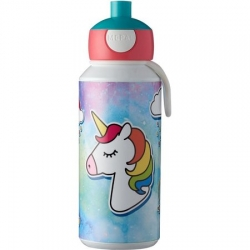 Botella pop-up campus rosti mepal 400 ml unicornio