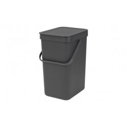 Cubo de reciclaje brabantia sort and go gris 12 l317849