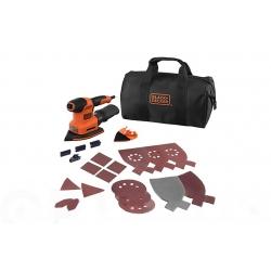 Lijadora multi stanley black & decker iberica 200 w + accesorios y bolsa