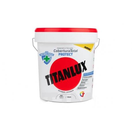 Pintura plastica titan antibacterias blanco 12,5 l