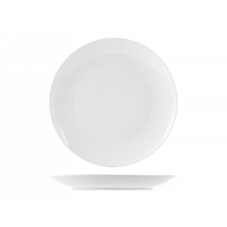 Plato llano porcelana h&h sweden blanco