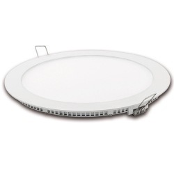 Downlight led corte 185mm matel blanco 18w luz fria