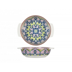 Fuente horno porcelana h&h redonda multidecorado320090