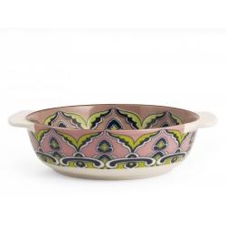 Fuente horno porcelana h&h redonda multidecorado320091