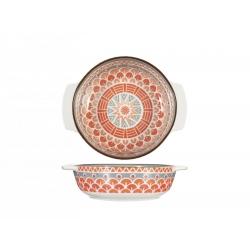 Fuente horno porcelana h&h redonda multidecorado320092