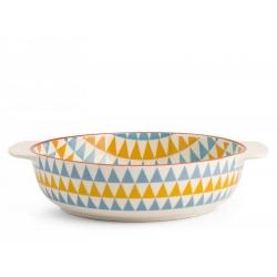 Fuente horno porcelana h&h redonda multidecorado 21 cm320094