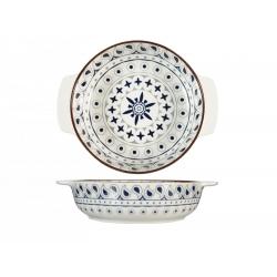 Fuente horno porcelana h&h redonda multidecorado 21 cm320095