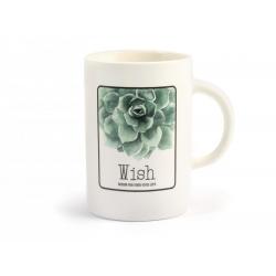 Tazon mug porcelana new bone china hojas320486