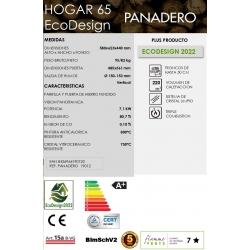 Estufa de leña panadero insert hogar 65 ecodesign320506