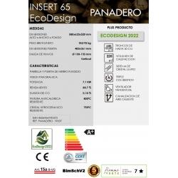 Estufa de leña panadero insert 65 ecodesign320510