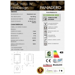 Estufa de leña panadero inca wall ecodesign320512