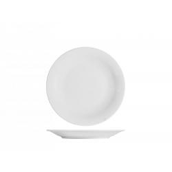 Plato postre porcelana h&h grabado blanco