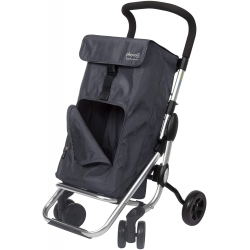 Carro compra playcare plegable ruedas giratorias navy321042