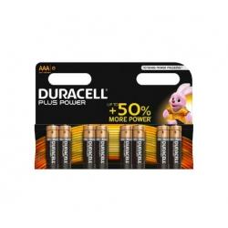 Pila duracell aaa lr03 plus power 8 unidades