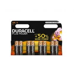 Pila duracell aa lr06 plus power 8 unidades