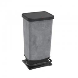 Cubo de basura plastico efecto cemento 40 l