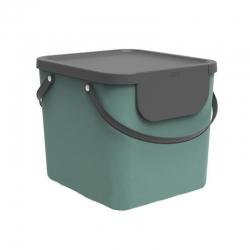 Cubo de reciclaje apilable albula 40 l verde