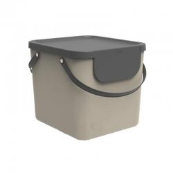 Cubo de reciclaje apilable albula 40 l taupe