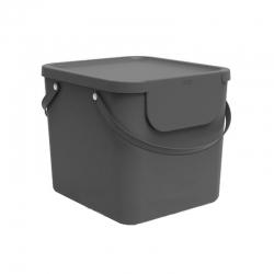 Cubo de reciclaje apilable albula 40 l gris