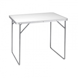Mesa camping koopman plegable blanca 80 x 60 cm