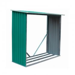 LeÑero metalico holman 1.37m2 verde l185 x a075 x h160 cm