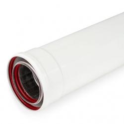 Tubo coaxial estanco m-h aluminio 80-110x1000