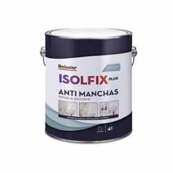 Pintura antimanchas beissier isolfix plus blanco 4l