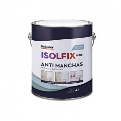Pintura antimanchas beissier isolfix plus blanco 4l