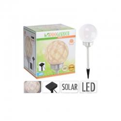 Lampara solar progarden led giratoria esfera diam 15 cm
